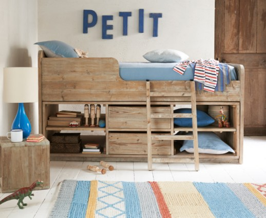 Wonderful kid friendly Clamber Doodle cabin bed from loaf - a great example of Fresh Design kid's furniture