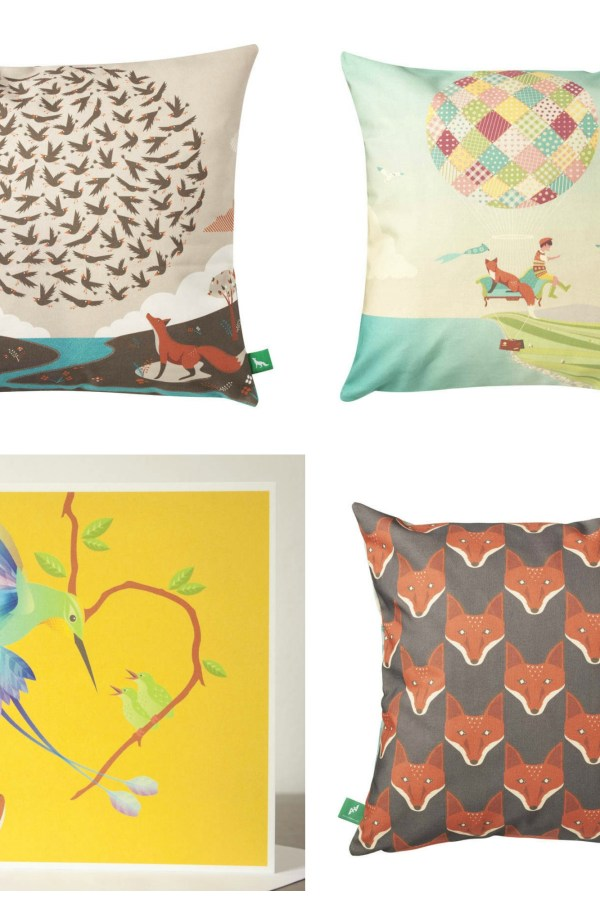 Cushions and cards by Andy Hau of AHA Design