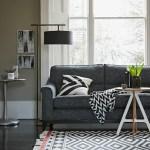 Mid-century monochrome living room: Parker Knoll Montana sofa