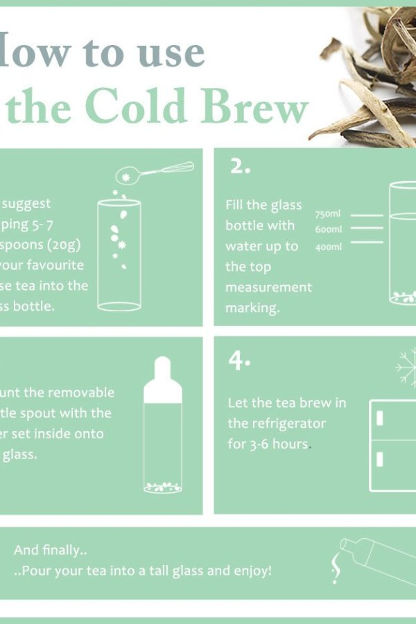 Make refreshing iced tea with a Whittard cold brew T bottle