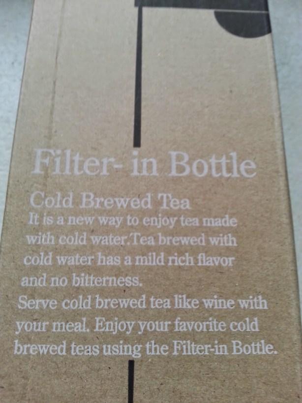 Whittard cold brew iced tea filter bottle