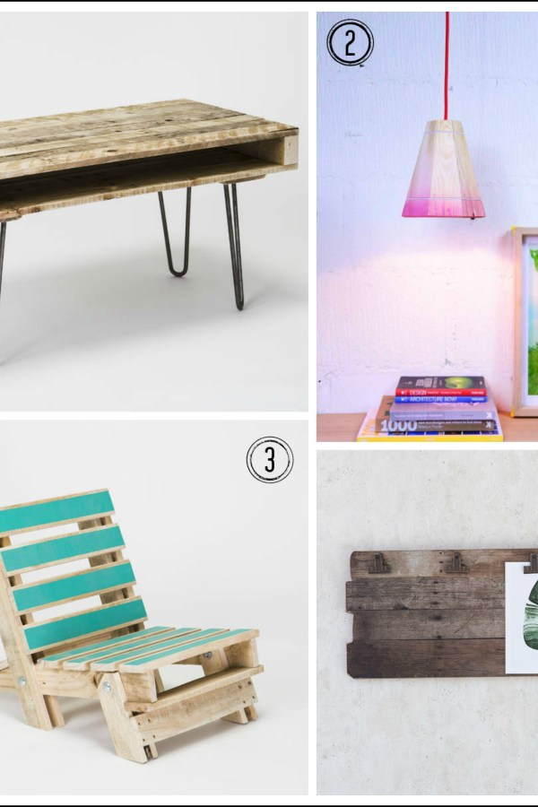 Recycled wood: Four ways with pallets