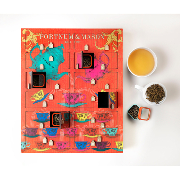 Wooden tea lovers advent calendar from Fortnum and Mason