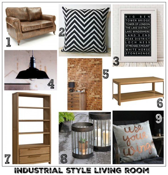Industrial style living room idea