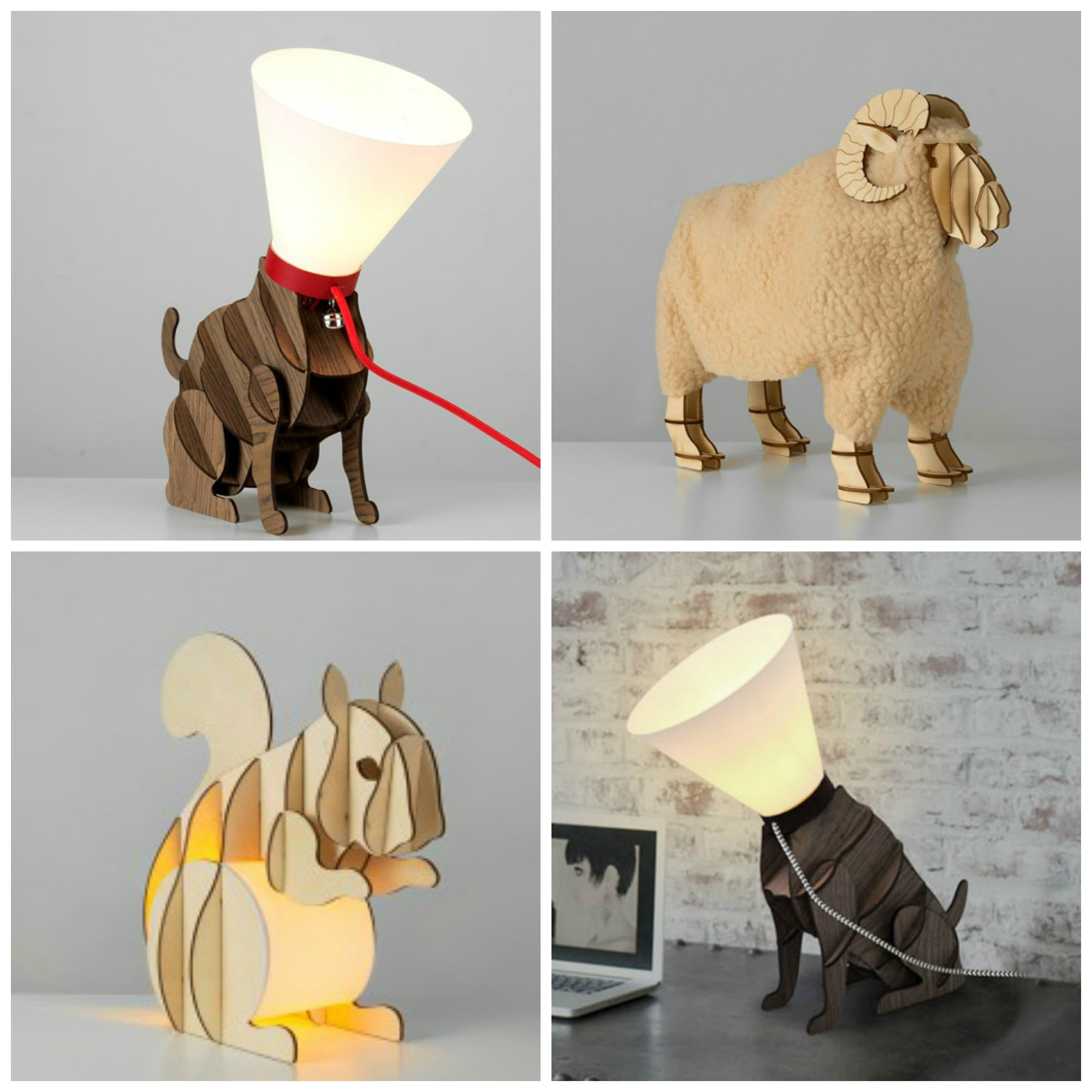 All These Animal Lamps Are Such Fun! Which To Choose Though, Cat, Sheep