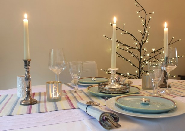 A romantic dinner for two, made special by Amalfi ceramics and tableware from Duckydora