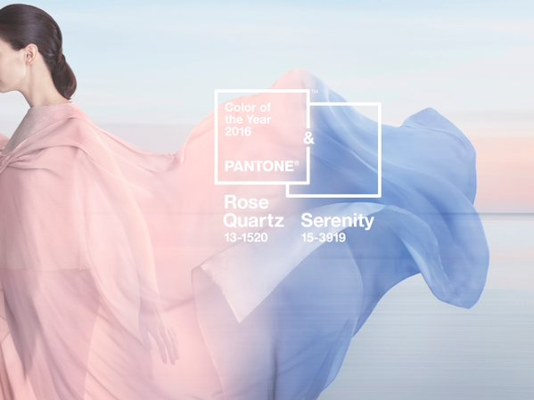 Pantone Colour of the Year 2016: Rose Quartz and Serenity (aka pink and blue)
