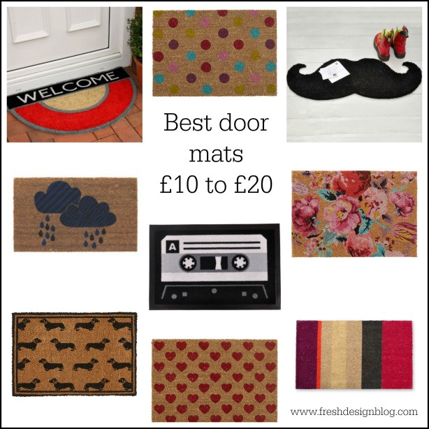Lovely door mat ideas, all priced between £10 and £20