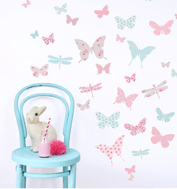Amazing Children us butterfly and dragonfly wall stickers