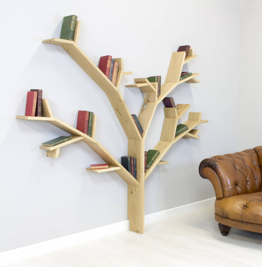 Stunning Handmade Tree Design Shelves By Bespoak Interiors