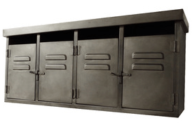 Reproduction industrial wall cabinets, £110