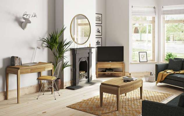 Lovely solid wood furniture that is perfect for a modern living room