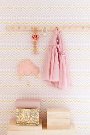 Tomoko pink wallpaper by Majvillan would work well in a kid's bedroom