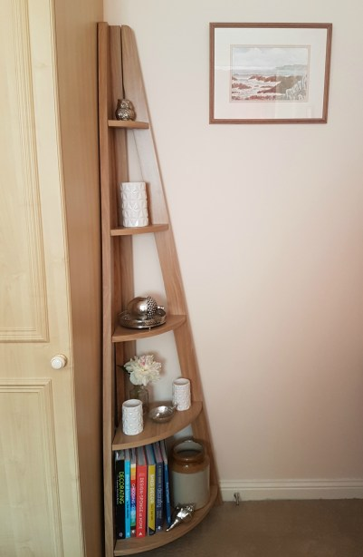 Got an awkward corner to fill? Try the Quinn corner bookcase in a stylish ladder design.