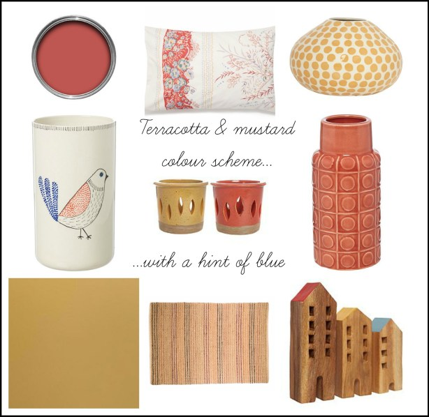 How to create a terracotta and mustard colour scheme