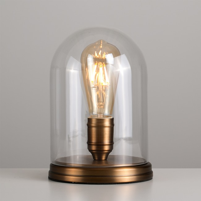 Elegant antique brass Thomas Edison steampunk table lamp. Great used in an industrial design room.