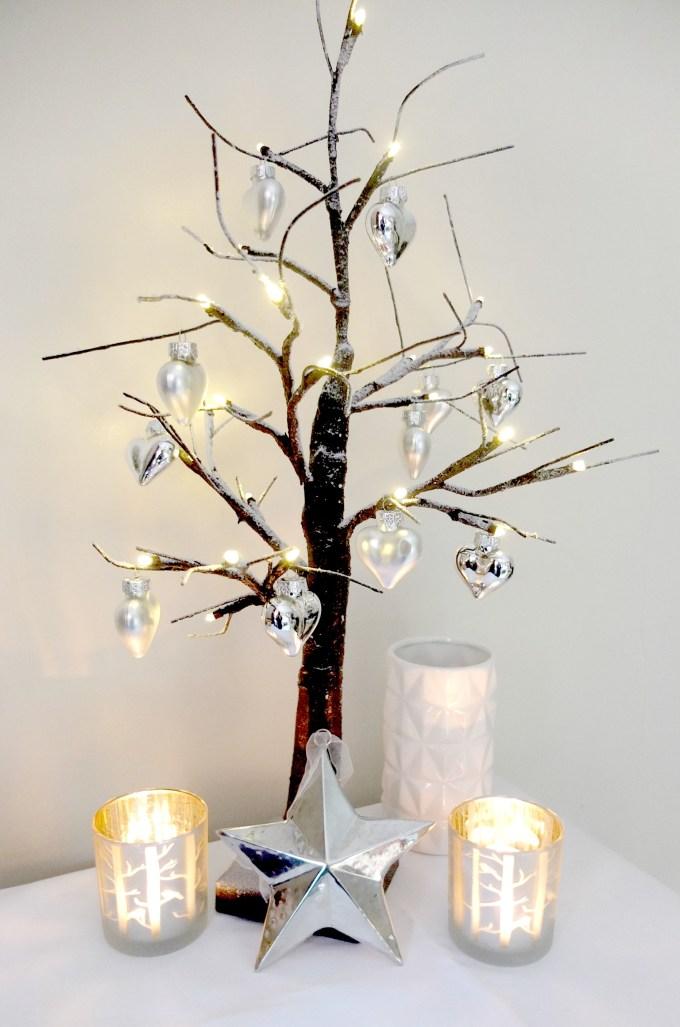 Nordic style birch twig Christmas tree
