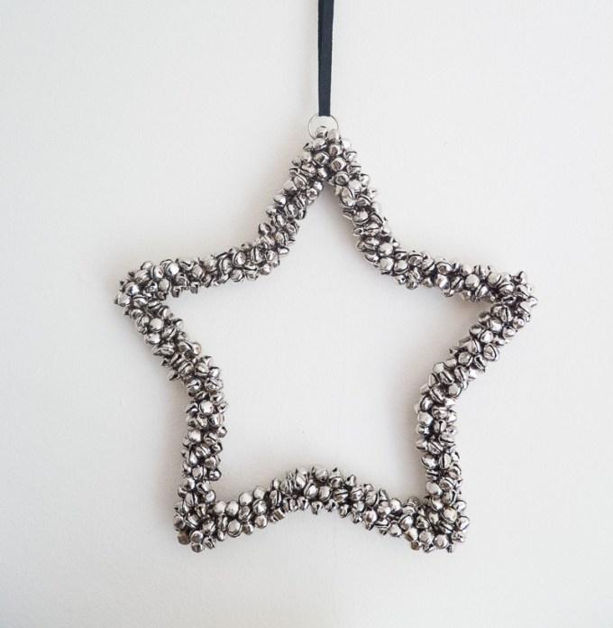 Super affordable, but highly effective, jingle bell star decoration