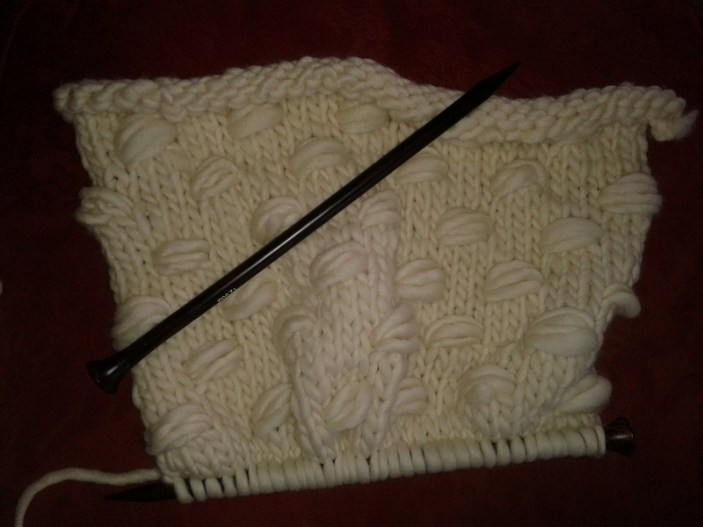 The knitting grows....