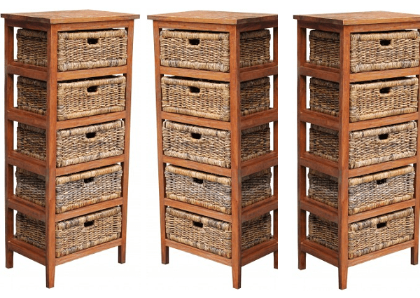 Product review: Five drawer rattan storage rack