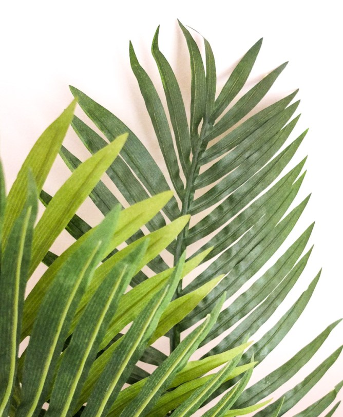 Not got greenfingers? Opt for a realistic looking faux plant and you're onto a winner!