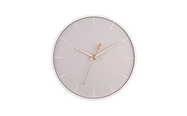 Stylish and on trend grey wall clock, perfect for a home office, bedroom or study