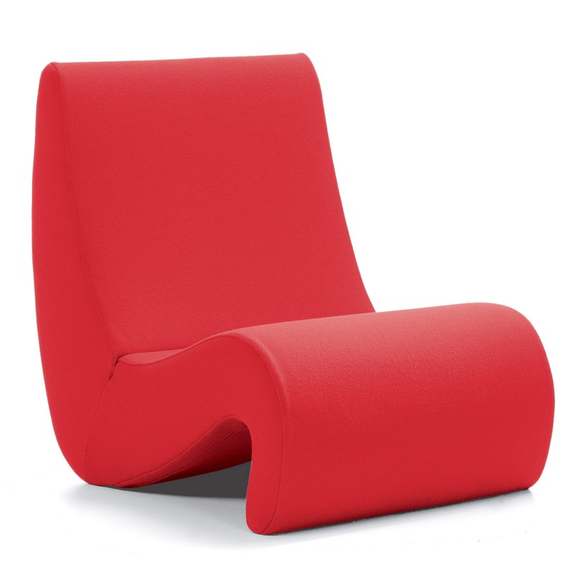 Classic amoebe low down lounge chair designed by Verner Panton for Vitra