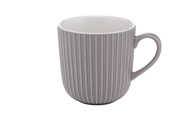 Lovely grey geometric style mug for under a fiver
