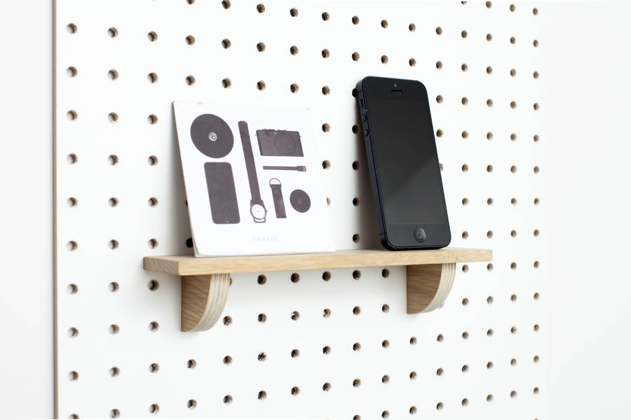 Quirky pegboard shelf that turns your board into a multi-functional display unit