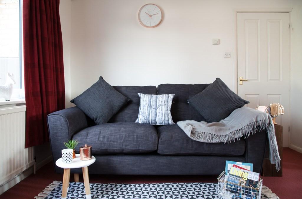 Dfs Arden sofa styled by Fresh Design Blog