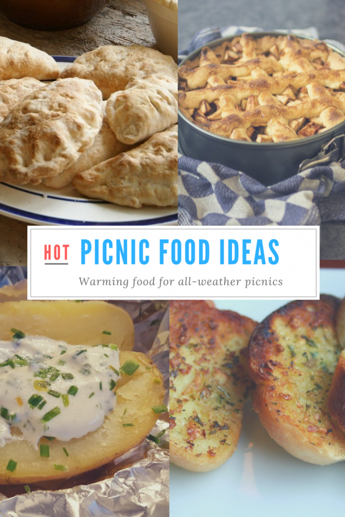 Enjoy a picnic in the great outdoors whatever the weather with these hot and warming picnic food recipe ideas