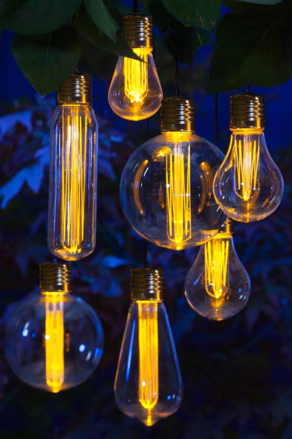Outdoor Edison bulb style light garland