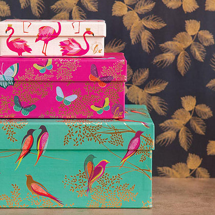 Gorgeous gift boxes designed by Sara Miller London
