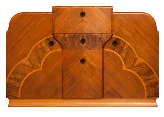 Art deco design cocktail cabinet sold by The Old Cinema