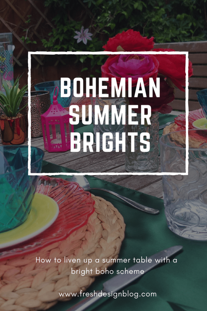 Liven up your outdoor eating zone with a bright and colourful boho style! Get styling tips and affordable product ideas for achieving the look.