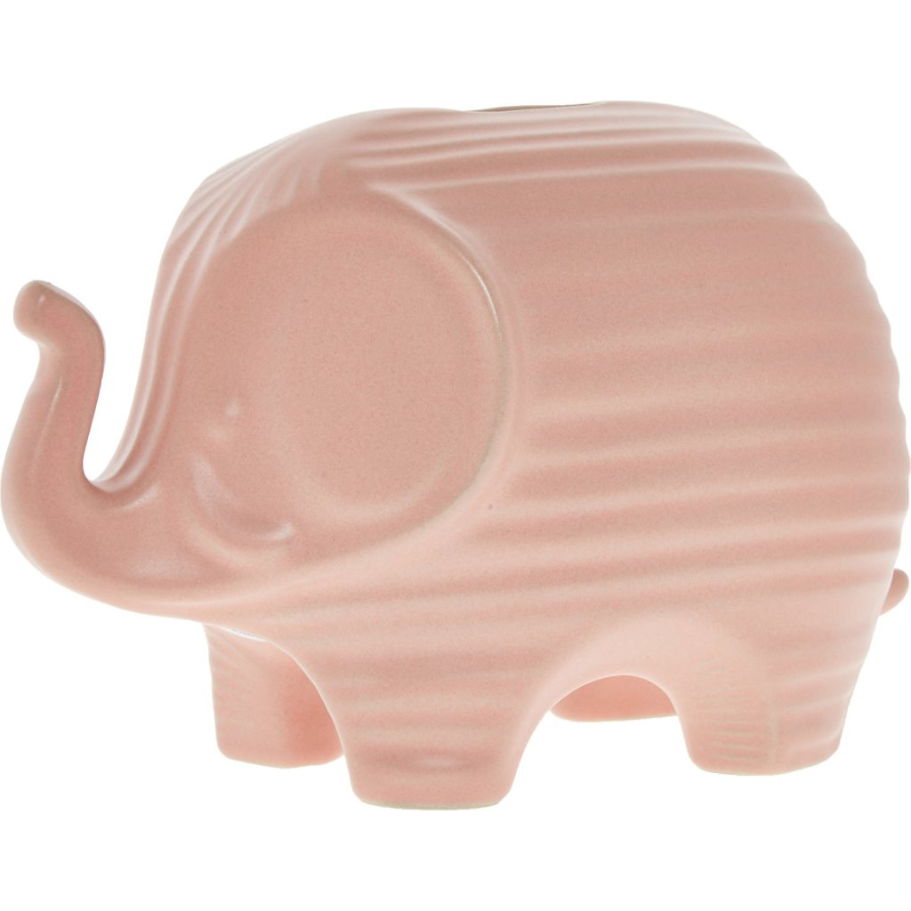 Gorgeous design pink elephant money box by Jonathan Adler - and a great price to boot!