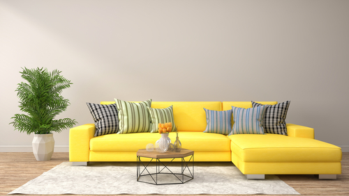Bright and cheery playful yellow home colour schemes