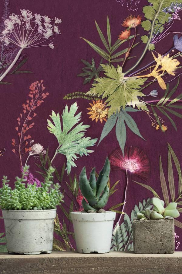 Ginspiration: Modern botanical luxe living room design