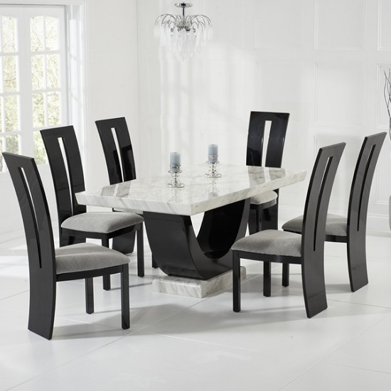 Good Stunning marble table Allie dining