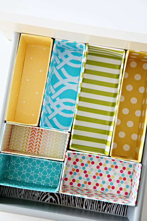 Get your bedroom drawers more organised by making your own drawer organisers