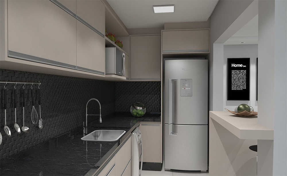 How to make a small kitchen an eat-in spac