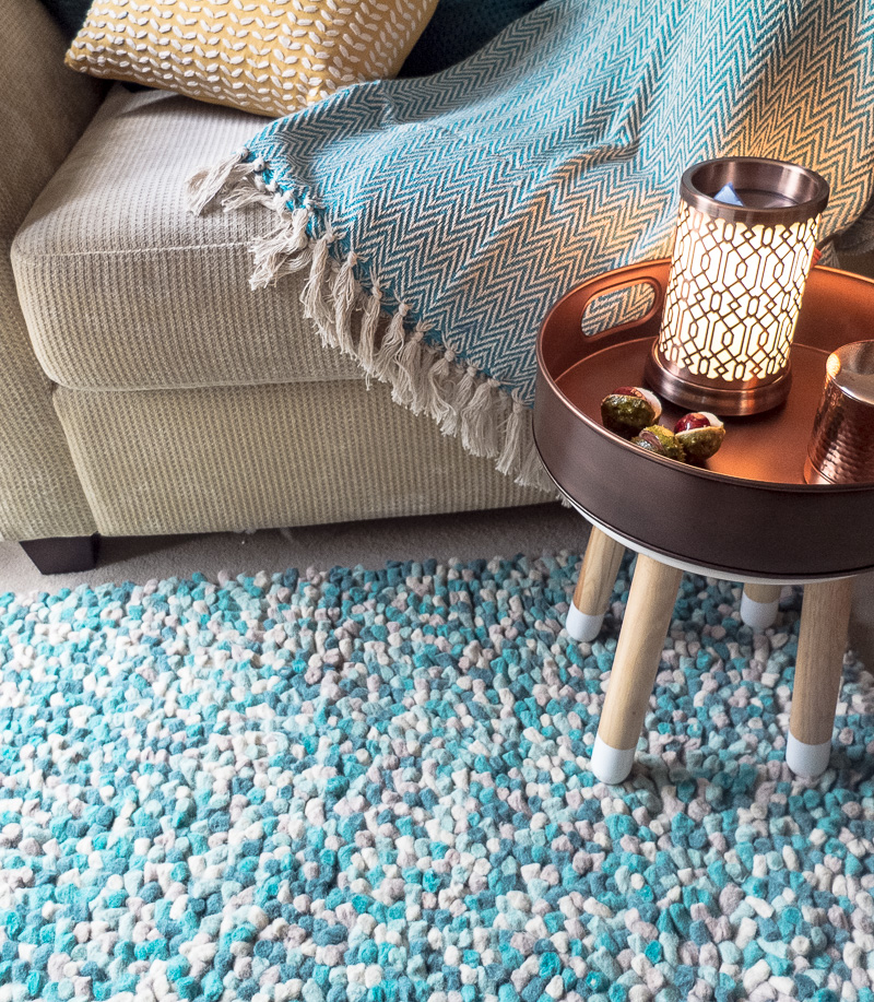 Add warmth, texture and colour to your floor with a jellybean style wool rug