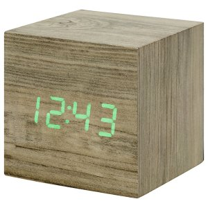 Lovely natural wood LED alarm clock