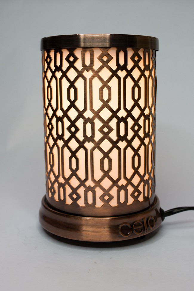 Contemporary geometric design Cello electric wax melt burner