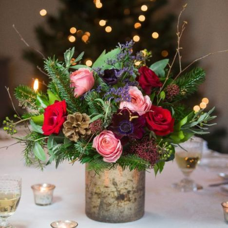 Stunning Christmas posy floral arrangement from The Real Flower Company