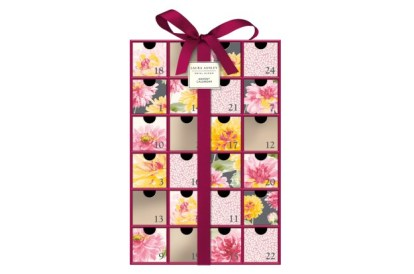 Gorgeous re-usable drawer style Bloom advent calendar from Laura Ashley