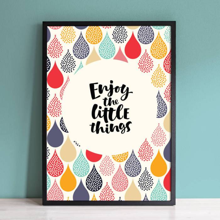 Gorgeously colourful and inspiring wall art print