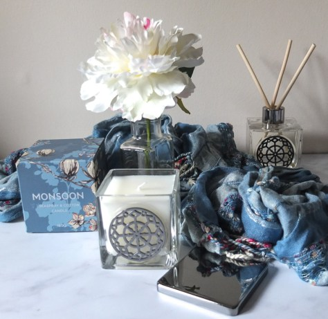 Gorgeous Seaspray and Cotton candle and reed diffuser from Monsoon - perfect gift idea