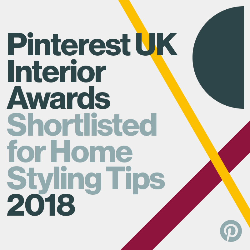 Fresh Design shortlisted in the 2018 Pinterest UK Interior Awards for Home Styling Tips