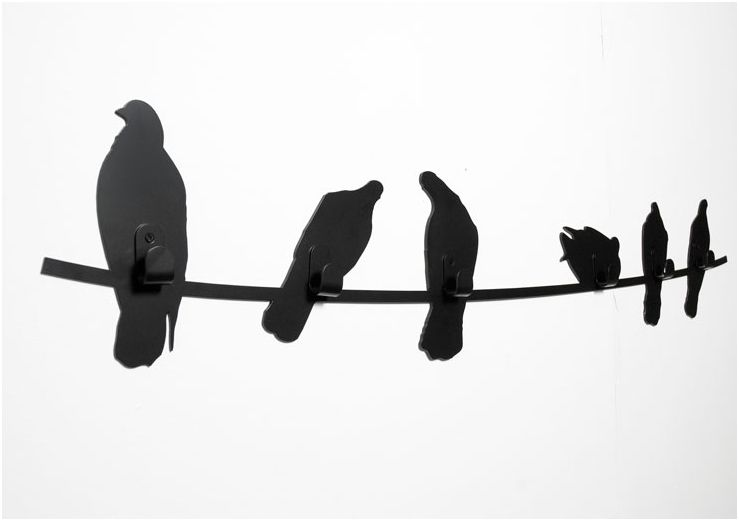 This Covo birds on a wire coat rack is both functional and artistic - great to have on your wall at home